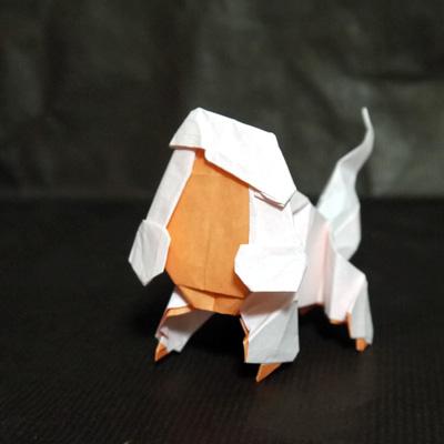 折り紙イケメン犬