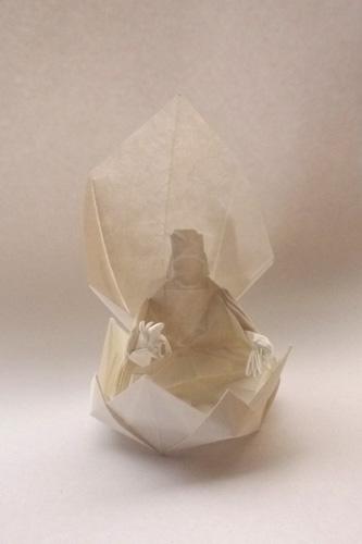 折り紙仏像 origami buddha
