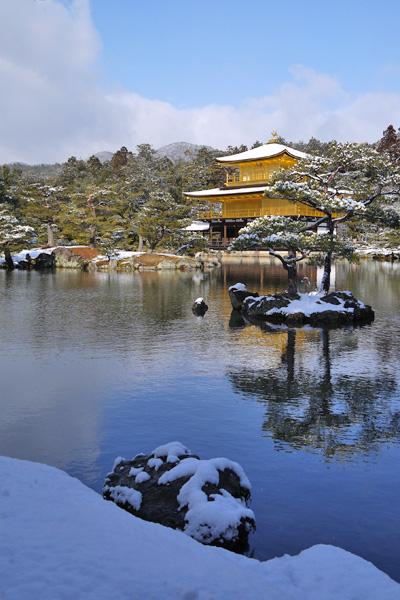 京都の雪景色