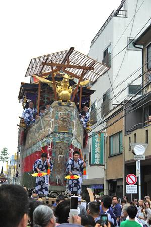 京都祇園祭 船鉾曳き初め