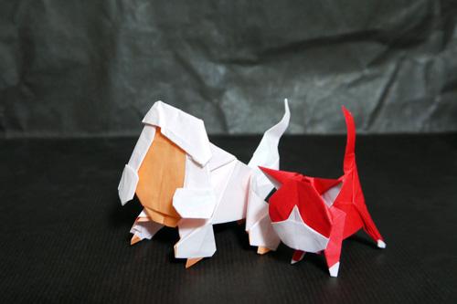 イケメン犬 アカマル 折り紙 妖怪ウォッチ