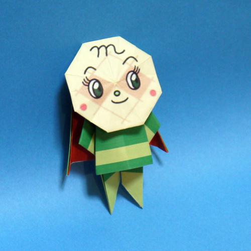 折り紙メロンパンナちゃん