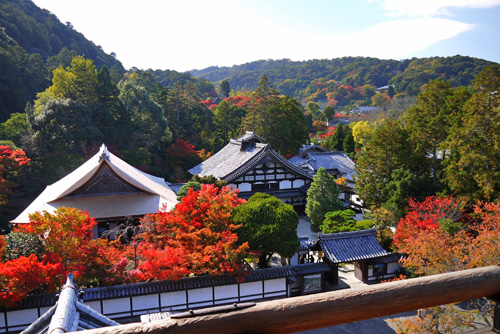 南禅寺の山門 紅葉